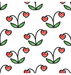 Seamless background berry bush handmade vector