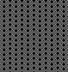 Dark geometric wattled seamless pattern vector image