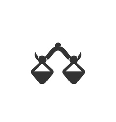 Balance Icon logo on white background vector image