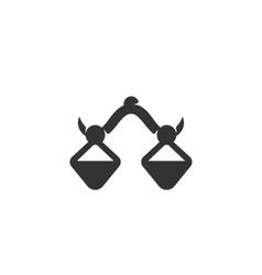 Balance icon logo on white background vector