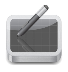 Icon for pen tablet vector