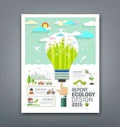 Annual Report light bulb environment creative vector image vector image