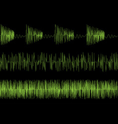Audio equalizer waves vector