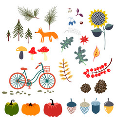 Autumn fall clip art vector