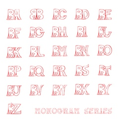 B monogram series vector