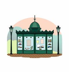 Bookseller kiosk vector