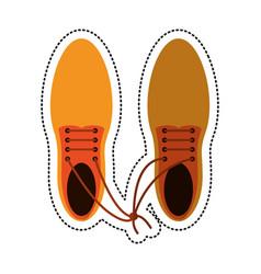 Cartoon april fool shoelaces tied image vector