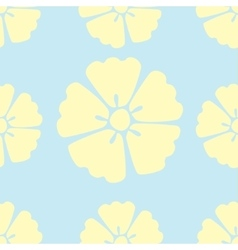 Cherry blossom flowers seamless pattern background vector image