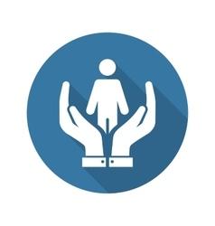 Child life care icon flat design vector