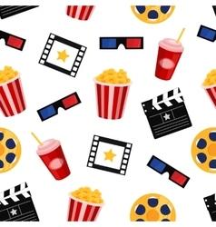 cinema elements seamless pattern vector image