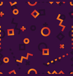 Circles squares curves dashed lines and signs vector