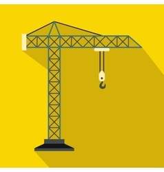 Construction crane icon flat style vector image