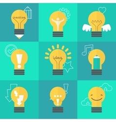 Creative idea set with vector image