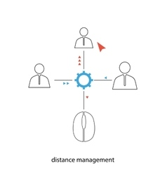 Distance management vector image vector image