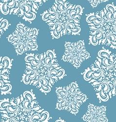 elegant floral ornament stars vector image