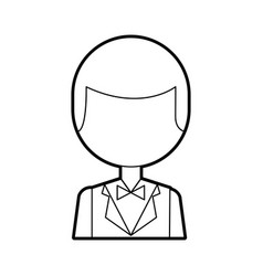 Elegant man with bowntie vector