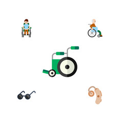 flat icon handicapped set of disabled person vector image