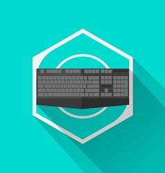Gaming Gear Flat Icon Keyboard vector image vector image