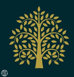 Gold tree symbol in asia style vector