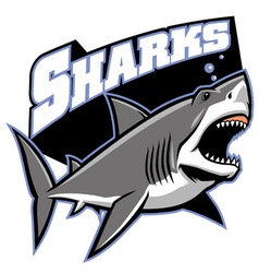 great white shark mascot vector image vector image