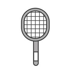 Grey sport racket cartoon vector