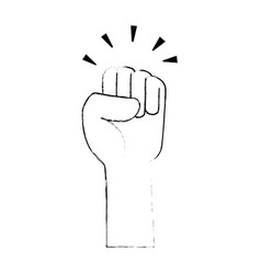 hand up fist icon vector image vector image