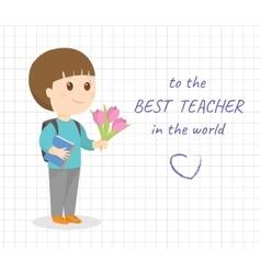 Happy teacher day card vector