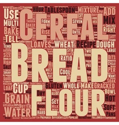 How to bake multi grain bread text background vector