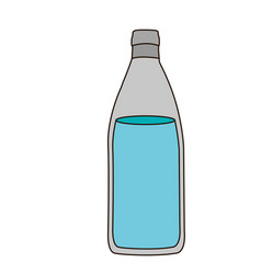 Light coloured silhouette with bottle of water vector