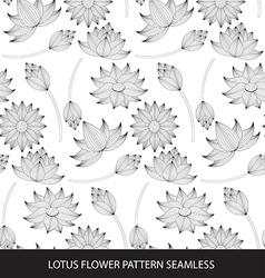 Lotus flower seamless pattern vector