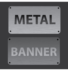 Metal texture banners replaceable text eps10 vector