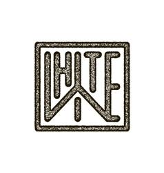 mockup black and white thin line emblem vector image