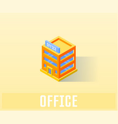 office icon symbol vector image