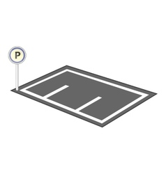 Parking icon cartoon style vector image vector image
