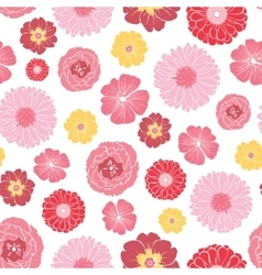 Pink gold field flowers seamless pattern vector