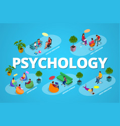 psychological therapy concept coach and support vector image