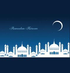Ramadan kareem beautiful greeting card vector