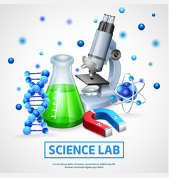 Scientific laboratory design concept vector