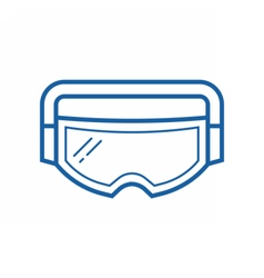 Ski goggles icon vector