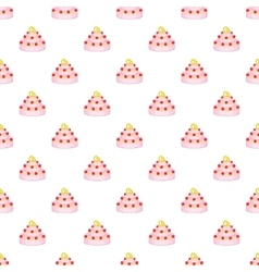 Wedding cake pattern cartoon style vector