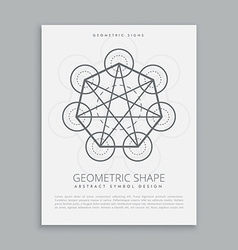 Sacred metatron geometric shape vector