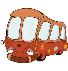 The little red school bus vector
