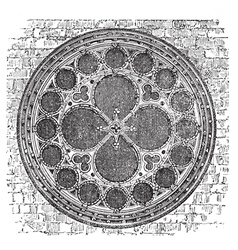 Deans eye rose window in the North Transept of vector image