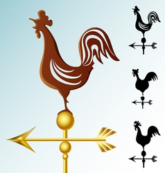 Weather vane set vector