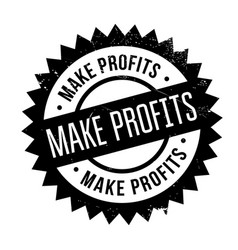 Make profits rubber stamp vector