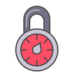 Combination lock isolated pictogram vector