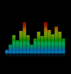Colored audio equalizer waves vector