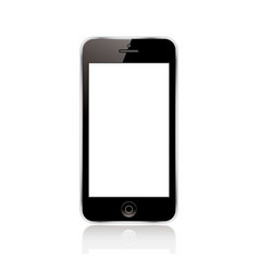 Mobile phone black vector