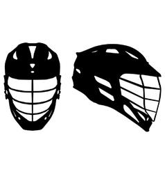 Lacrosse helmet vector image