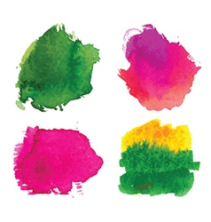 Water-colour blots vector